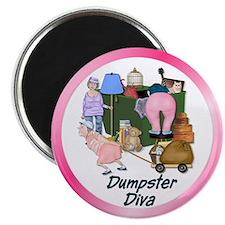 "Dumpster Diva 2.25"" Magnet (10 pack)"