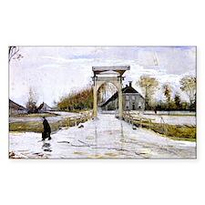 Van Gogh - Drawbridge in New A Decal