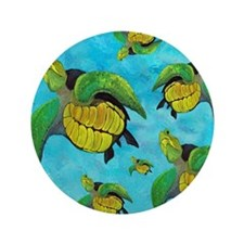 "Sea Turtle 3.5"" Button"