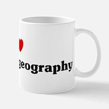 I Love Economic geography Mug