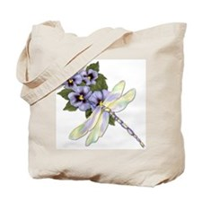 Pansy Floral Tote Bag