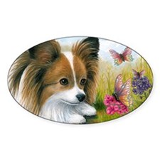 Dog 123 Papillon Butterfly Decal