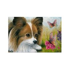 Dog 123 Papillon Butterfly Magnets