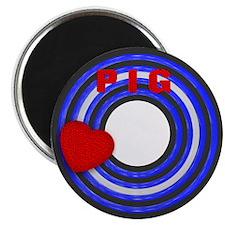 LEATHER PRIDE/PIG/ROUND Magnet
