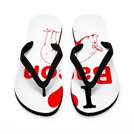 I Love Bacon Flip Flops