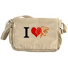 I Love Tigers Messenger Bag