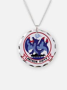 Vp 50 Blue Dragons Circle Necklace