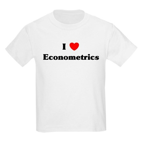 I Love Econometrics Kids Light T-Shirt