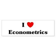 I Love Econometrics Bumper Bumper Sticker