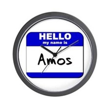 hello my name is amos  Wall Clock