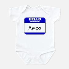 hello my name is amos  Infant Bodysuit