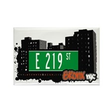E 219 St, Bronx, NYC Rectangle Magnet