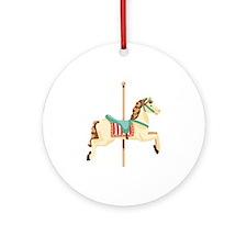 Carousel Horse Ornament (Round)