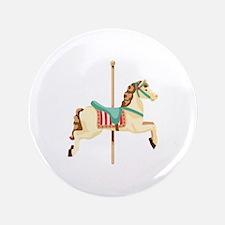 """Carousel Horse 3.5"""" Button"""