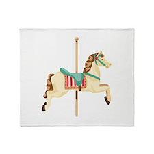 Carousel Horse Throw Blanket