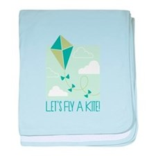 Lets Fly A Kite baby blanket
