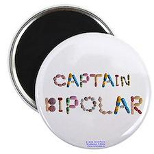 Captain Bipolar Button Magnets