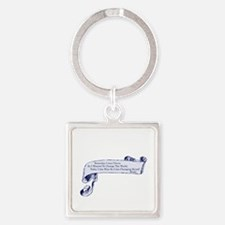 Clever Rumi Quote Square Keychain