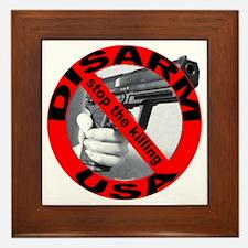 DISARM USA - STOP THE KILLING Framed Tile