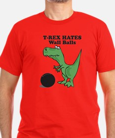 T-Rex Hates Kettlebell Swings T-Shirt