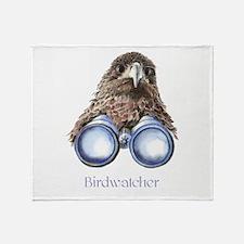 Birdwatcher Bird Watching You Humor Throw Blanket