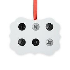 White Screws Picture Ornament