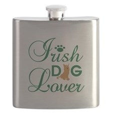 Irish Dog Lover Flask