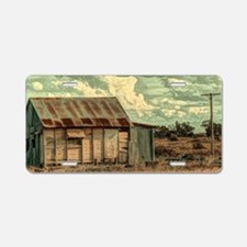 rustic western country farm Aluminum License Plate