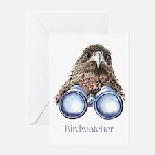 Birdwatcher Bird Watching You Humor Greeting Cards