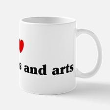 I Love Humanities and arts Mug
