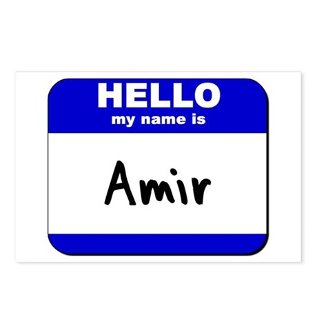 hello my name is amir Postcards (Package of 8)