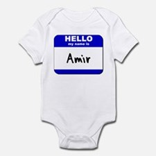 hello my name is amir  Infant Bodysuit