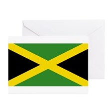Jamaica Flag Greeting Cards (Pk of 10)
