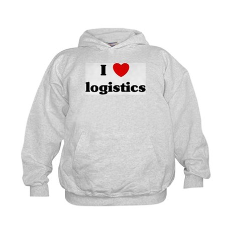 I Love logistics Kids Hoodie