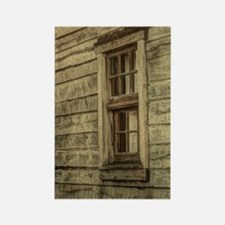 rustic window western country far Rectangle Magnet