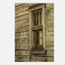 rustic window western cou Postcards (Package of 8)