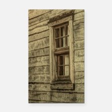rustic window western country Rectangle Car Magnet