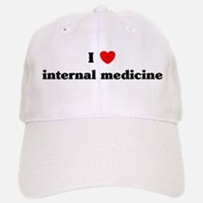I Love internal medicine Baseball Baseball Cap
