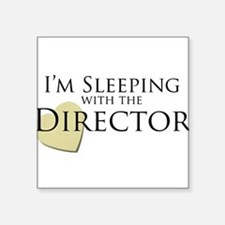 Sleeping With the Director Rectangle Sticker