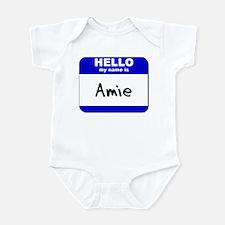 hello my name is amie  Infant Bodysuit