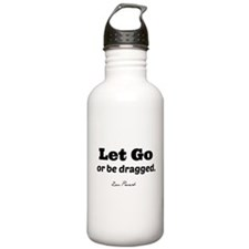 Let Go. (clear background) Water Bottle