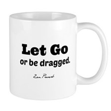 Let Go. (clear background) Mugs