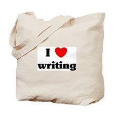 I Love writing Tote Bag