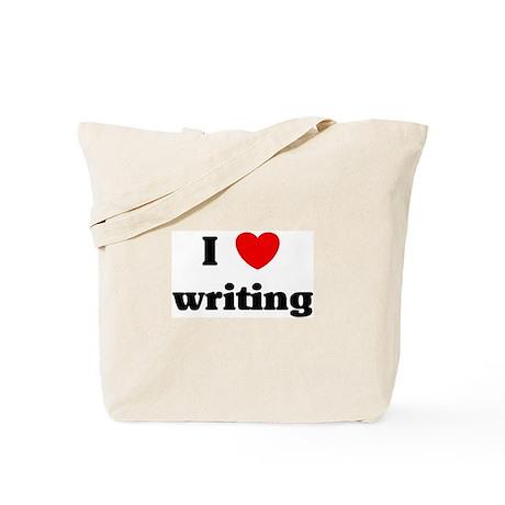 I Love writing Tote Bag