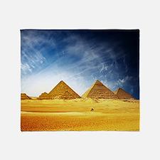 Giza Pyramids Throw Blanket