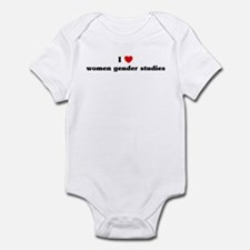 I Love women gender studies Infant Bodysuit