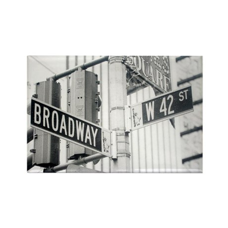 NY Broadway Times Square - Rectangle Magnet (10 pa