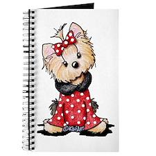 Valentine Yorkie Girl Journal