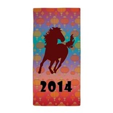 Chinese Year of the Horse Beach Towel