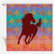 Chinese Year of the Horse Shower Curtain